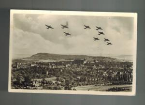 1945 Gotha East Germany DDR  Luftwaffe Planes in Flight Postcard Cover