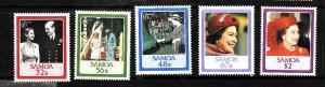 Samoa-Sc#670-4-Unused NH set-QEII-60th Birthday-1986-