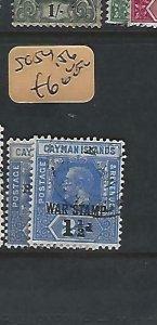 CAYMAN ISLANDS  (P1909B)  KGV  WAR TAX  SG 54, 56  VFU