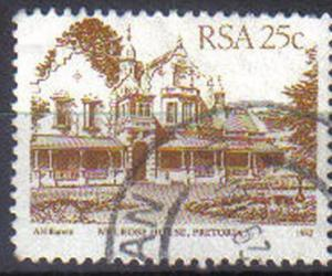 SOUTH AFRICA, 1982, used 25c, 4th Definitive Series, Architecture.