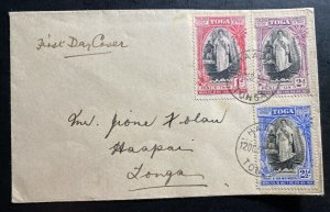 1938 Haapai Tonga Toga First Day Cover FDC Locally Used