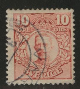 SWEDEN Scott 80 used 1910 stamp