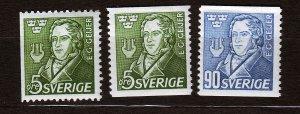 J23041 JLstamps 1947 sweden set mh #383-5 geijer
