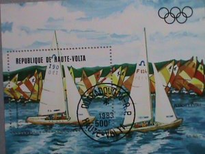 UPPER VOLTA STAMP: 1983  OLYMPIC GAMES- YATCH RACING CTO MNH S/S SHEET-