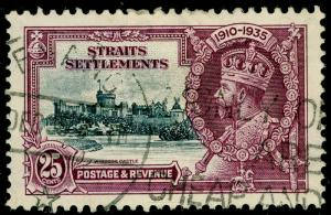 MALAYSIA - Staits Settlements SG259, 25c slate & purple, used. Cat £12. SCRIPT.