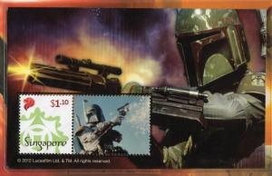 SINGAPORE  STAR WARS THE DARK SIDE 11 SOUVENIR SHEET LIMITED EDITION COLLECTION