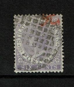 Straits Settlements SG# 13a, Used, Dumb-1876 cancel - S7482