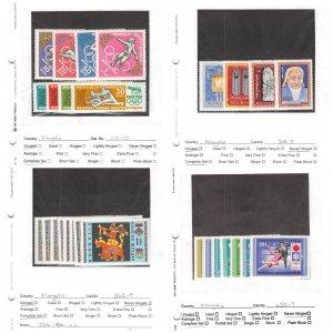 Lot of 74 Mongolia MNH Mint Never Hinged Stamps Scott Range 134-888 #145367 X R