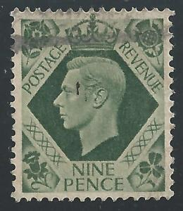 Great Britian #246 9p King George VI
