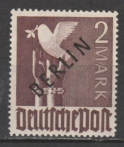 WEST BERLIN 1948 BERLIN OVERPRINTED DOVE 2MK MNH **