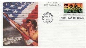 SC-2765i, 1993, World War II, WWII, Keeping Spirits High, Mystic, FDC,