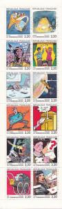 France 1988 La Communication Complete Comic Strip BOOKLET Pane (12) VF/NH(**)