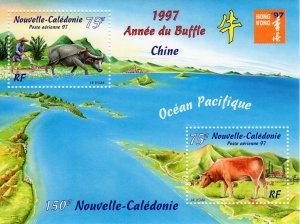 New Caledonia 1997 Sc#C285 Year of the Ox-Hong Kong '97 Souvenir Sheet Perf.MNH