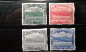 Dominica #50-53 mint hinged e191.3147