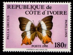 Ivory Coast 981A, Butterfly, NH, 2014