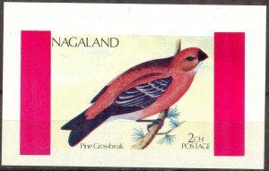 Nagaland Birds (1) Pine Grossbeak S/S MNH Cinderella !