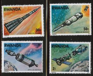 RWANDA Scott 772-775 MNH** Apollo Soyuz stamps