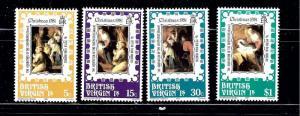 Virgin Is 417-20 MNH 1981 Christmas