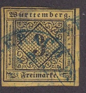 Wurttemberg # 1, Reprint, Used.