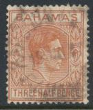 Bahamas SG 151 Red Brown Sc# 102  Used 1938+ definitive wmk script