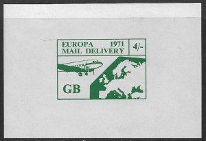 GREAT BRITAIN 1971 STRIKE POST LABEL 4sh EUROPA Souvenir Sheet MNH
