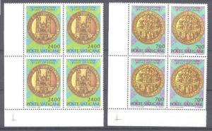Vatican 783-84 MNH bl.of 4 Christianization Latvia SCV2