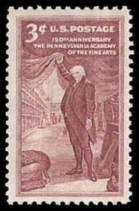 PCBstamps     US #1064 3c Pennsylvania Academy of Arts, MNH, (39)