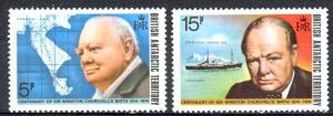 British Antarctic Territory Sc# 62-63 MNH 1974 Winston Churchill
