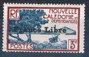 New Caledonia 219 MNH Bay of Paletuviers overprint 1941 (N0588)+