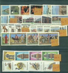 Bophuthatswana - 8 Never Hinged Complete Sets. $13.05.