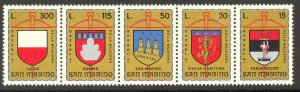 SAN MARINO 1974 CROSSBOW TOURNAMENT Set as Strip Sc 847a MNH