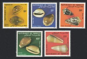 Djibouti Shells issue 1985 5v SG#959-963