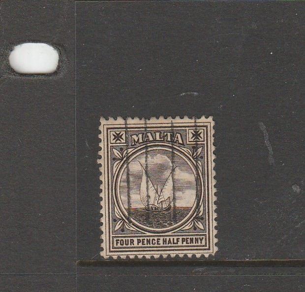 Malta 1899 4 1/2d Sepia Used SG 32