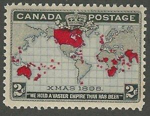 Canada,1898, Christmas, Map of British Empire, Scott #85, mint, N.H., V.F.