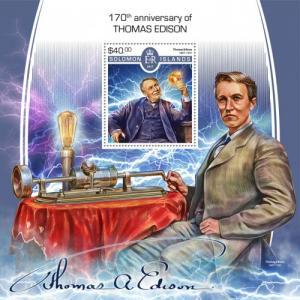 SOLOMON ISLANDS - 2017 - Thomas Edison - Perf Souv Sheet - MNH