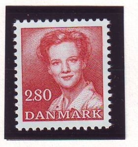 Denmark Sc 709 1985 2.8 kr copper red Queen stamp mint NH
