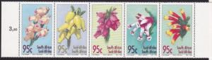 SOUTH AFRICA 1994 Flowers strip of 5 MNH....................................4930