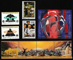 United Nations Geneva 226-227 232-233 236-243 set with mounts MNH 1993