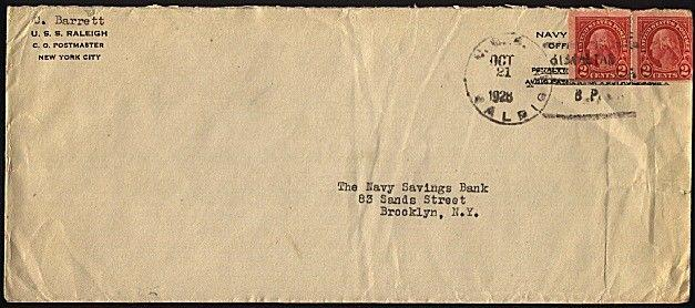 GIBRALTAR 1927 cover posted on USS CASE at Gibraltar.......................98463