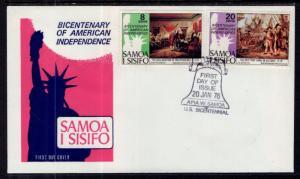 Samoa 429-430 US Bicentennial U/A FDC