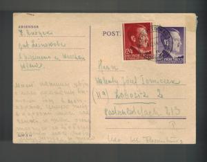 1944 Tschenstochau Germany Cover to Flossenburg KZ Concentration Sub Camp