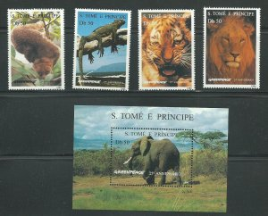 1996 St. Thomas and Prince Islands Unused Never Hinged Scott Catalog Numbers ...