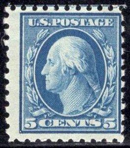US Stamp #466 5c Washington MINT NH SCV $150