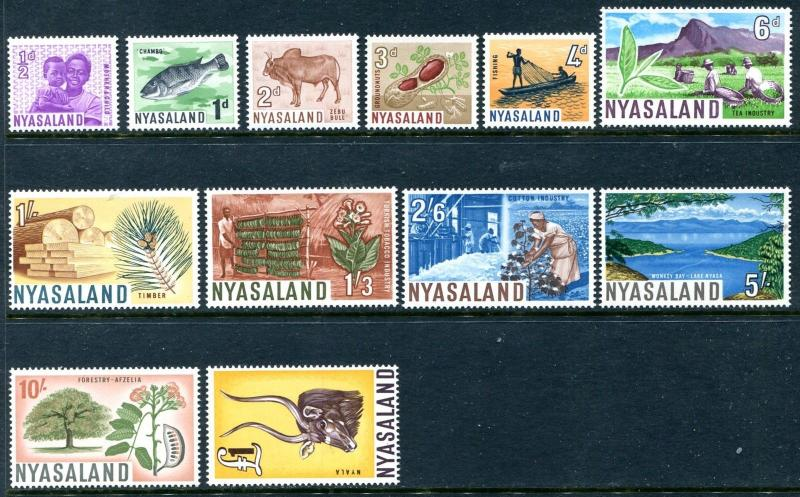 Nyasaland Protectorate 123-134, Mint Never Hinged 1964 Complete set. x12334