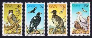 SWA Falcon Eagle Vulture Protected Birds of Prey 4v SG#270-273 MI#402-406