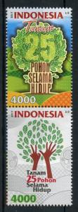Indonesia 2017 MNH Environmental Care Plant Trees 2v Set Nature Stamps
