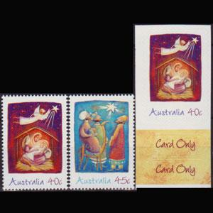 AUSTRALIA 2002 - Scott# 2108-10 Christmas Set of 3 NH