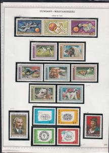 hungary issues of 1972 dogs & olympics etc stamps page ref 18303