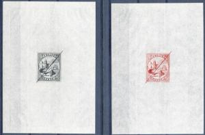 LIBERIA #19P LIBERTY ISSUES DEFACED DIE PROOFS SUNK ON TISSUE PAPER BP5779