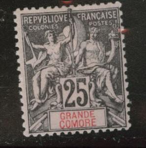 Grand Comoro Island Scott 10 MH* from 18971907 set Tiny Thin